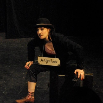 Lauren Eitzenberger as 'The Question Man.'