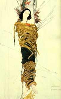 10_ida_rubinstein-leon baskt costume sketche for Le Martyr de Saint Sebastien 1911
