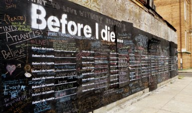 Candy Chang NOLA Before I die project