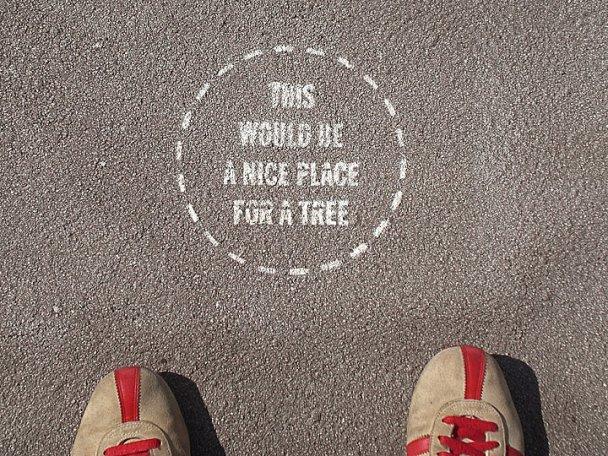 Candy Change Sidewalk Art