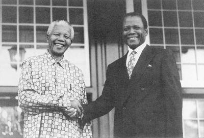 Sidney Poitier and Nelson Mandela